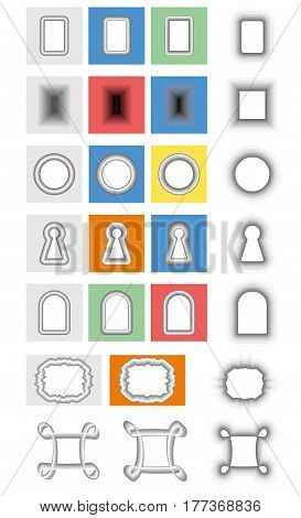 Set gradient vector frame, holes and keyholes