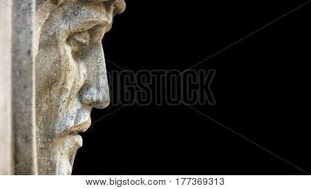 face of Jesus Christ in profile (statue)