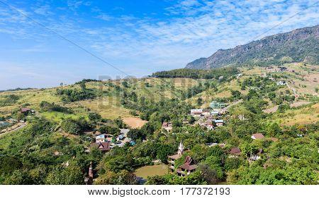 landscape of deforestation in North of Thailand