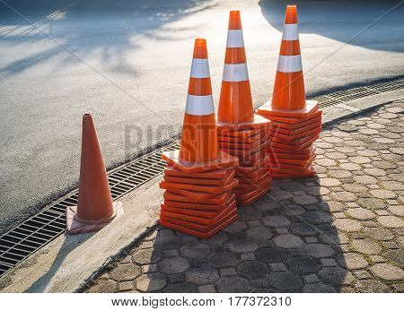 Traffic cones Safety Traffic signage Street Outdoor Urban