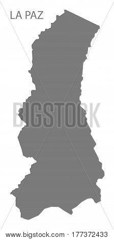 La Paz Bolivia Department Map Grey Illustration Silhouette