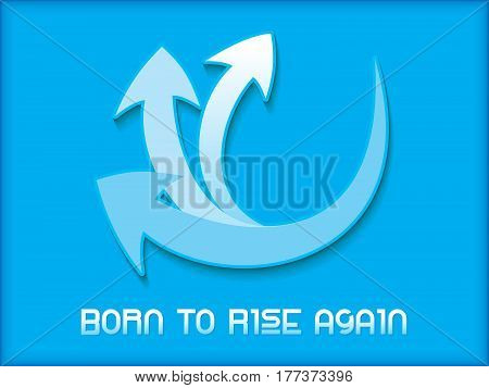 abstract artistic born to rice again vector illustration