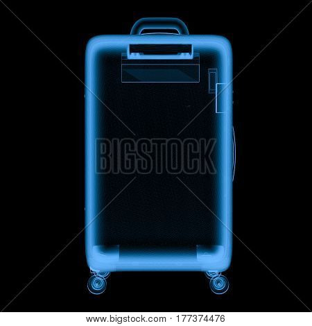 X Ray Luggage Isolated On Black
