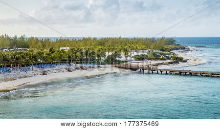 Panorama of Grand Turk island in Turks and Caicos Islands