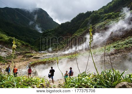 Valley of Desolation Dominica Boiling lake hike