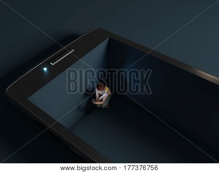 High-tech trap, 3d illustration
