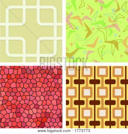 Seamless Retro Tile Set
