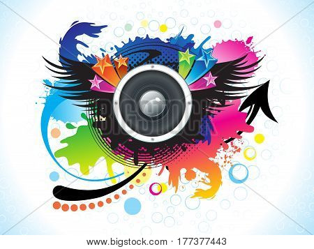 abstract artistic colorful music background vector illustration