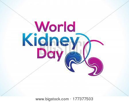 abstract world kidney day text vector illustration