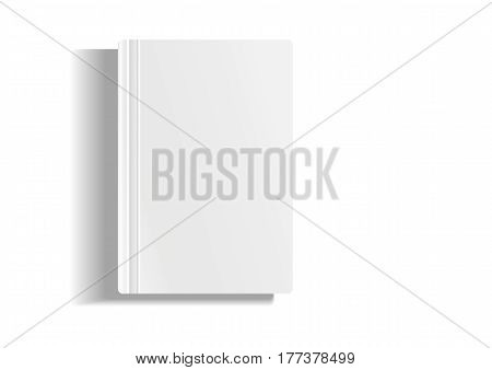 Empty magazine, album or book template lying on modern background. Object for design and branding. 3D Illustration.