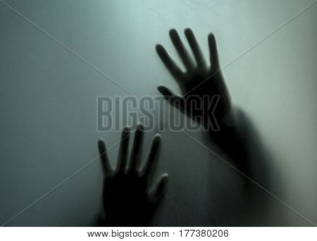 Silhouettes through glass