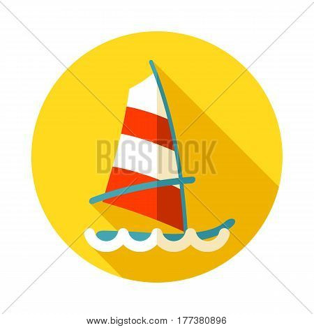 Board Windsurfing vector icon. Beach. Summer. Summertime. Holiday. Vacation eps 10