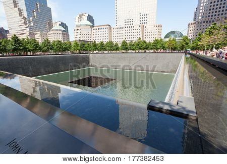 Memorial Fountain To The Victims Of September 11, 200
