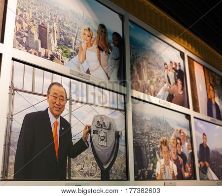 Wall With Pictures Of Vips Who Have Visited The Esb Observatory