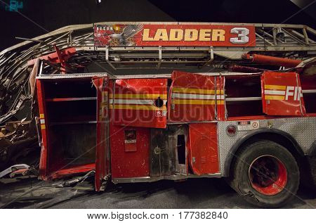 Fire Engine From Ladder Company 3 From Ground Zero, New York