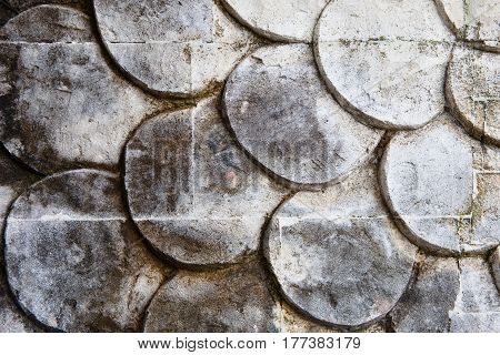 The Pattern On The Stone Is A Closeup Of A Balinese Temple
