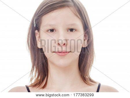 Teenage Girl Isolated