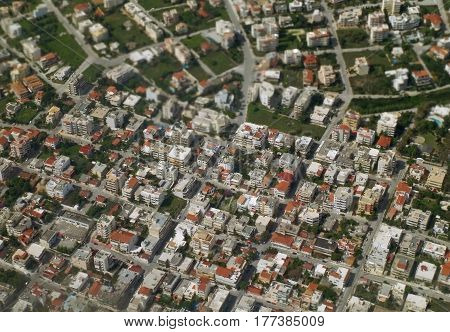 Cityscape of Athens, Greece, Bird's Eye View, Aerial View