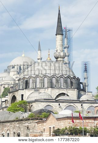 The Blue Mosque (Sultanahmet Camii) Istanbul Turkey.