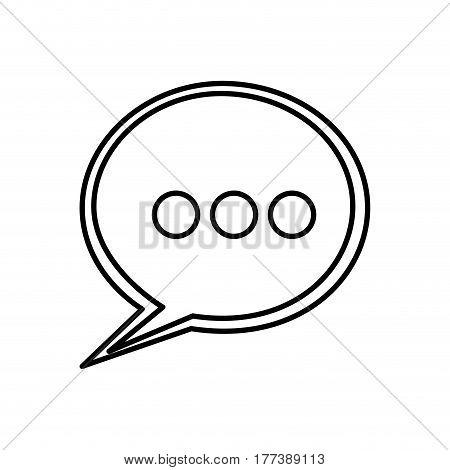 round chat bubble icon, vector illustration design