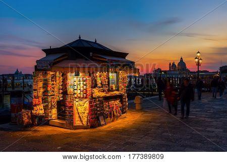 Souvenir Stall In Venice, Italy