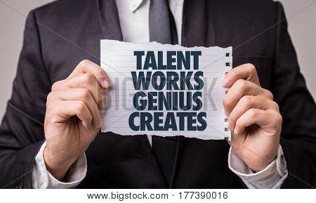 Talent Works Genius Creates