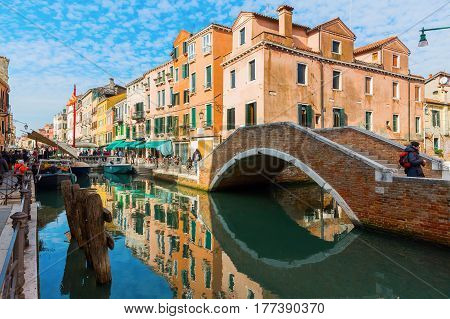 Picturesque Canal In Venice, Italy