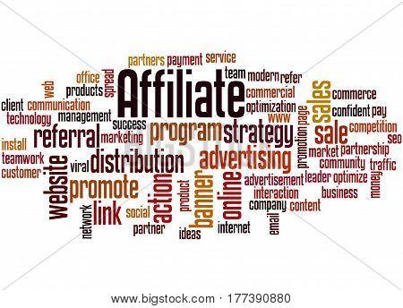 Affiliate, Word Cloud Concept
