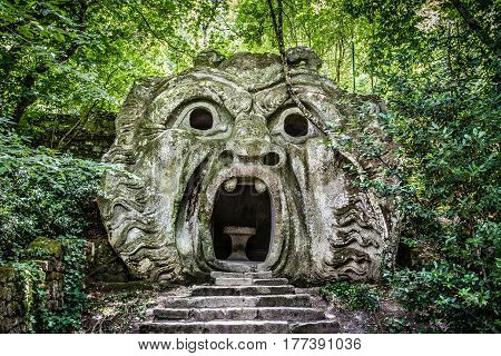 Parco Dei Mostri (park Of The Monsters)in Bomarzo, Province Of Viterbo, Lazio, Italy