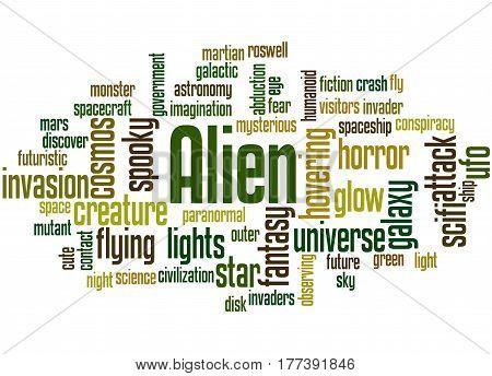 Alien, Word Cloud Concept