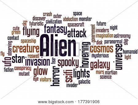 Alien, Word Cloud Concept 2