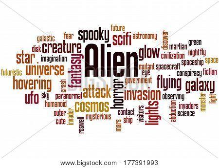 Alien, Word Cloud Concept 3