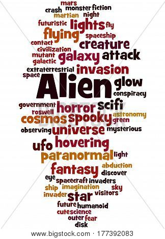Alien, Word Cloud Concept 4
