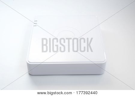 Generic Internet Networking Device Router Isolated Over The White Background