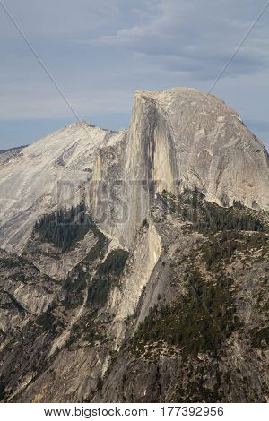 A view of Half Dome in Yosemite National Park