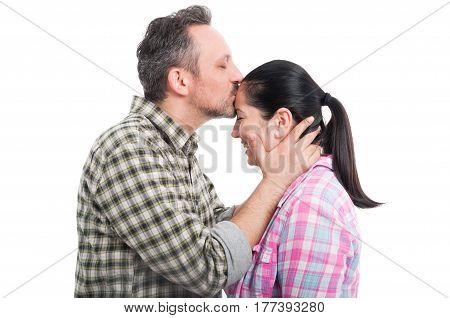 Boyfriend Kissing His Girlfriend On Forehead