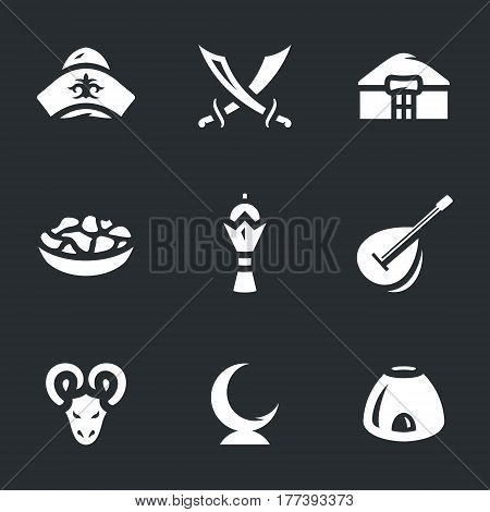 Cap, swords, yurt, food, monument, dombra, ram, islam, tandoor.