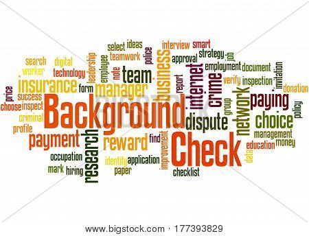 Background Check, Word Cloud Concept