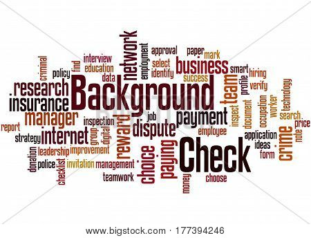 Background Check, Word Cloud Concept 2