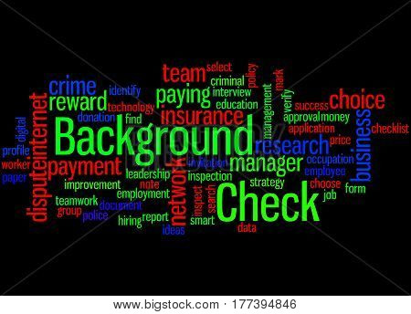 Background Check, Word Cloud Concept 4