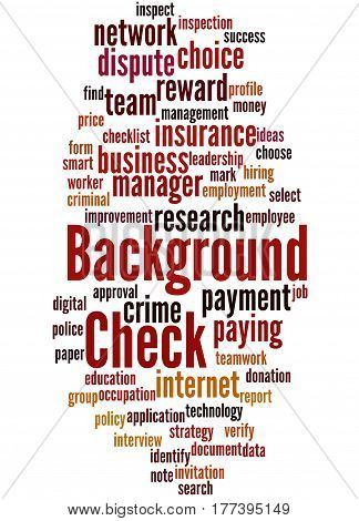 Background Check, Word Cloud Concept 6