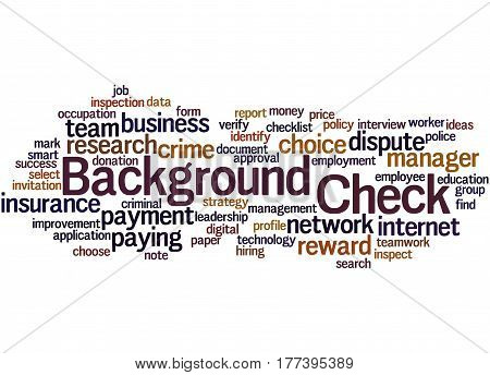 Background Check, Word Cloud Concept 8