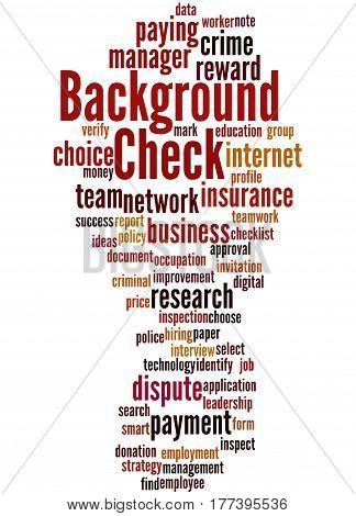 Background Check, Word Cloud Concept 9
