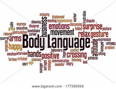 Body Language, Word Cloud Concept