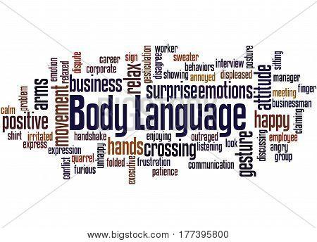 Body Language, Word Cloud Concept 2
