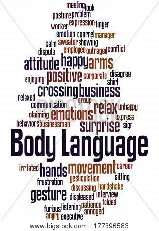 Body Language, Word Cloud Concept 5