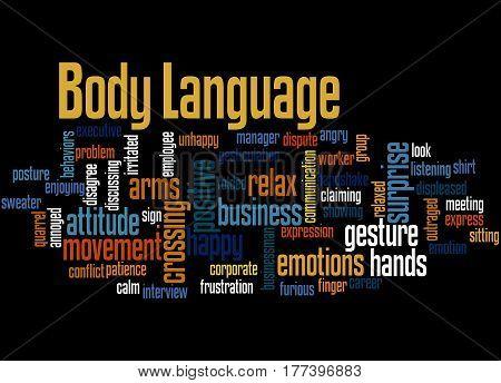 Body Language, Word Cloud Concept 6