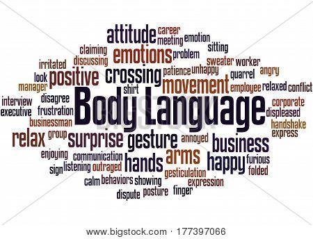Body Language, Word Cloud Concept 8