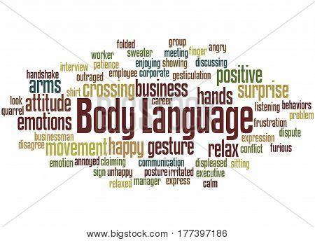 Body Language, Word Cloud Concept 9