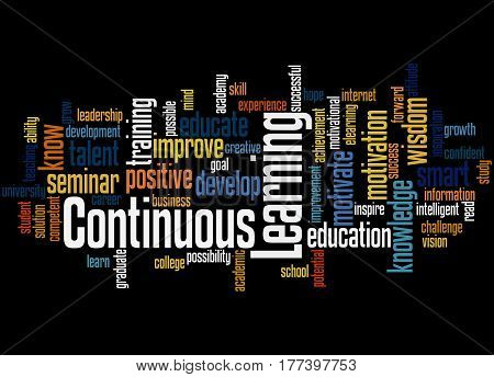 Continuous Learning, Word Cloud Concept 5